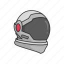 astronaut, cosmonaut, helmet, rocket scientist, space, space helmet icon