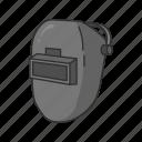 face protection, helmet, mask, welding, welding helmet, welding mask icon