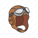 aircraft pilot, oxygen mask, pilot, pilot gear, swimming tool icon