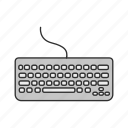 computer, digital type writer, keyboard, pc, personal computer, typing icon