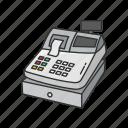 cash drawer, cash register, cashier, coin box, money box, register, sales register icon