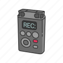 audio, audio recorder, journalist, recorder, reporter, voice recorder icon