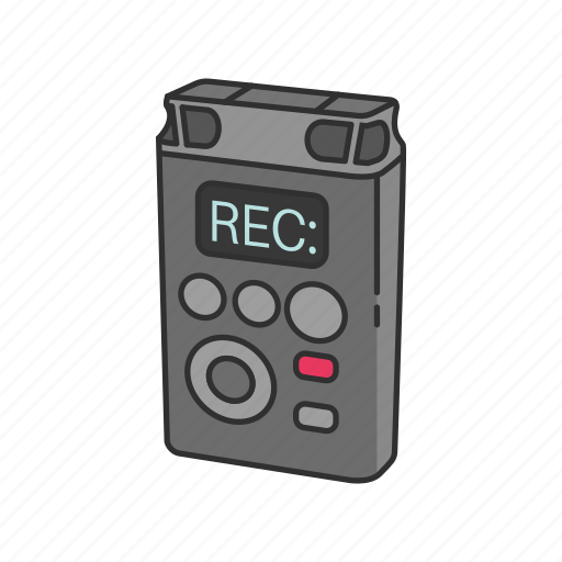 Audio, audio recorder, journalist, recorder, reporter, voice recorder icon - Download on Iconfinder
