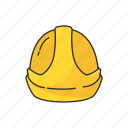cap, construction cap, hard hat, hat, safety hat, yellow cap icon