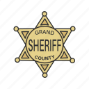 authority, badge, cop, enforcer, police, shield icon