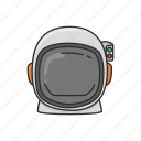 astronaut, cosmonaut, head gear, helmet, space helmet icon