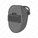 face protection, mask, welder, welding, welding mask icon
