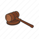 coourt, gavel, hammer, hearing, judge, justice, mallet
