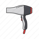 beautician, blower, dryer, hair blower, hair dryer, salon icon