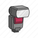 camera, camera accessory, camera addon, flash, photography icon