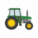 farm, farming, farming equipment, farming tool, heavy equipment, tractor icon