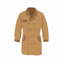 clothes, clothing, coat, detective, detective coat, garment icon