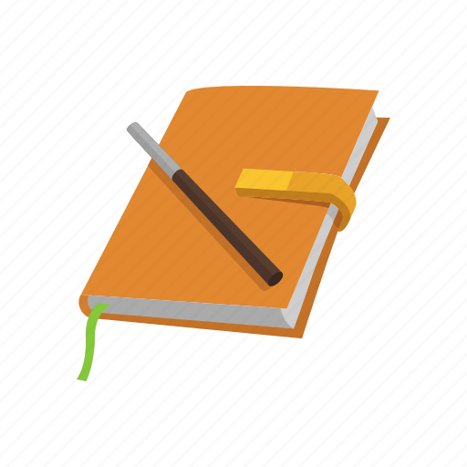 diary, journal, notebook, notes, pen, record icon