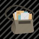 bag, courier, letters, mail, mailbag, mailman, messages