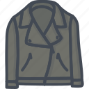 clothes, leather, man, outwear, shirt, top icon