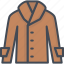 clothes, coat, man, outwear, shirt, top icon