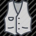clothes, man, outwear, shirt, top, vest icon