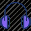 earphone, headphone, headset, headset icon