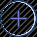 add, new icon, plus, plus round, round icon icon