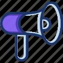 loud, megaphone, promote icon, sound, speaker icon