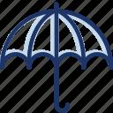insurance, protection, security, umbrella, weather icon icon