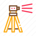 engineer, equipment, geodetic, measuring, tool, topography, tripod icon