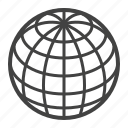 geometry, globe, orb, sphere, topology icon
