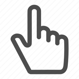 designate, direction, finger, gesture, gestureworks, select, touch icon