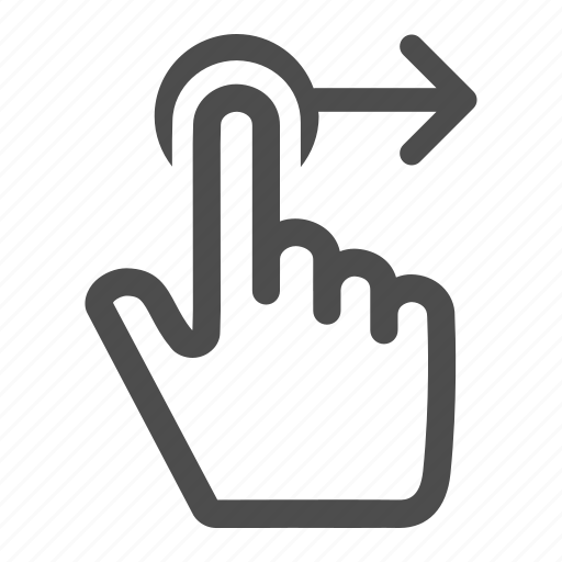 arrow, finger, gesture, move, next, right, touch icon