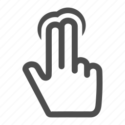 fingers, gesture, gestureworks, hand, hold, point, select, touch, two icon