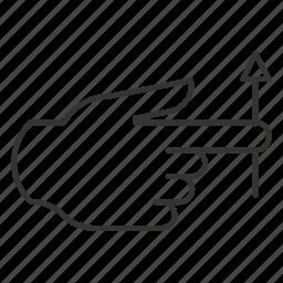 arrow, drag, hand, move, up, upwards icon