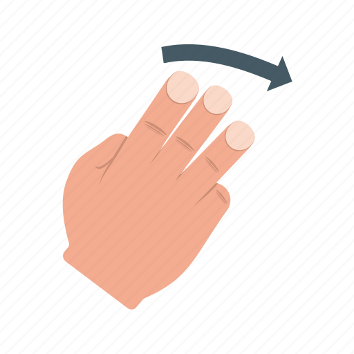 Finger, gesture, gestures, hand, right, scroll, swipe icon - Download on Iconfinder