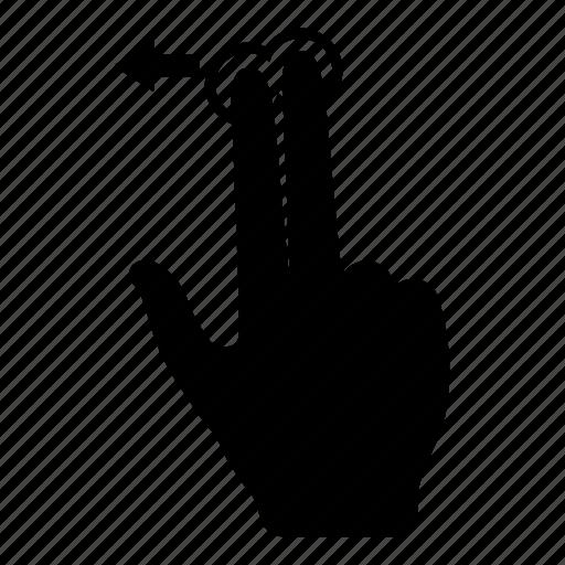 fingers, hand, scroll, scroll left, swipe, swipe left, touch screen icon