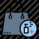 alcohol, bag, handbag, hygiene, spray