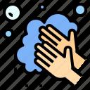 bubble, clean, hand, hand washing, hygiene, washing