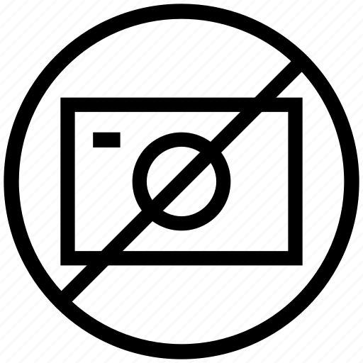 camera prohibited, camera restricted, no camera, no image, no photos, no video icon