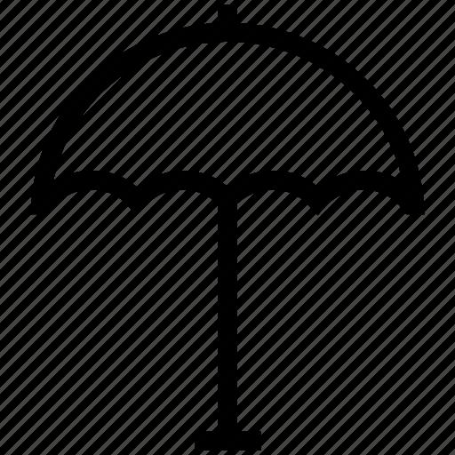 beach umbrella, garden parasol, parasol, shade, sunshade, suntan icon