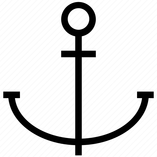 anchor, boat, sea, ship, stopper icon