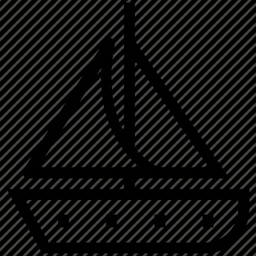 boat, sailboat, sailing boat, sailing vessel, ship, travel, vessel, yacht icon