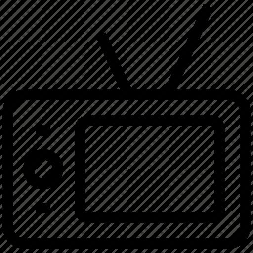 idiot box, retro tv, television, television set, tv, tv set icon