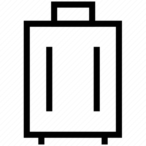 luggage, luggage suitcase, suitcase, wheel suitcase icon