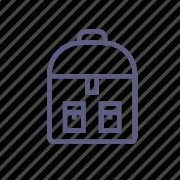 backpack, hiking, knapsack, packsack, rucksack, school, tourism icon