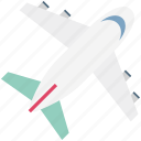 aeroplane, airplane, flight, passenger plane, plane, travel, traveling icon