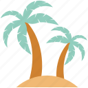 hammock, holiday, island, palm hammock, palm tree, vacations icon