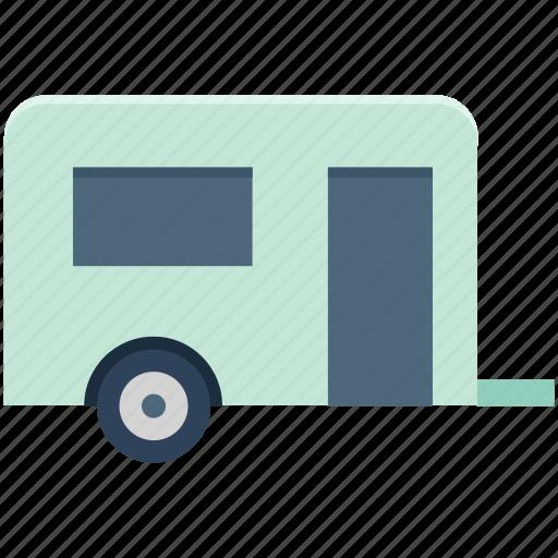 caravan, convoy, living van, living vehicle, transport, van, vanity van icon