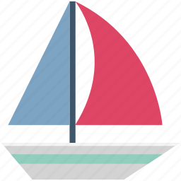 boat, sailboat, sailing boat, ship, vehicle, vessel, water transport icon