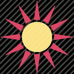 bright day, morning, sun, sunny day, sunshine icon