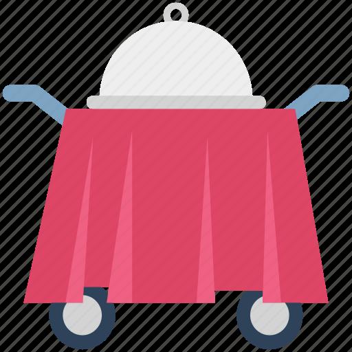 food service trolley, food trolley, hostess trolley, hotel trolley, room service icon