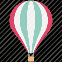 air balloon, air travel, hot air balloon, parachute balloon, skydiving icon