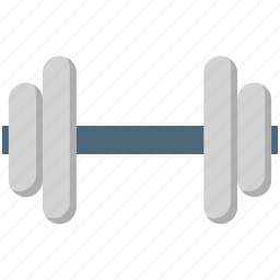 barbell, dumbbell, fitness, halteres, weight lifting icon
